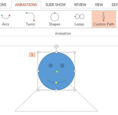 Visible animation path in PowerPoint