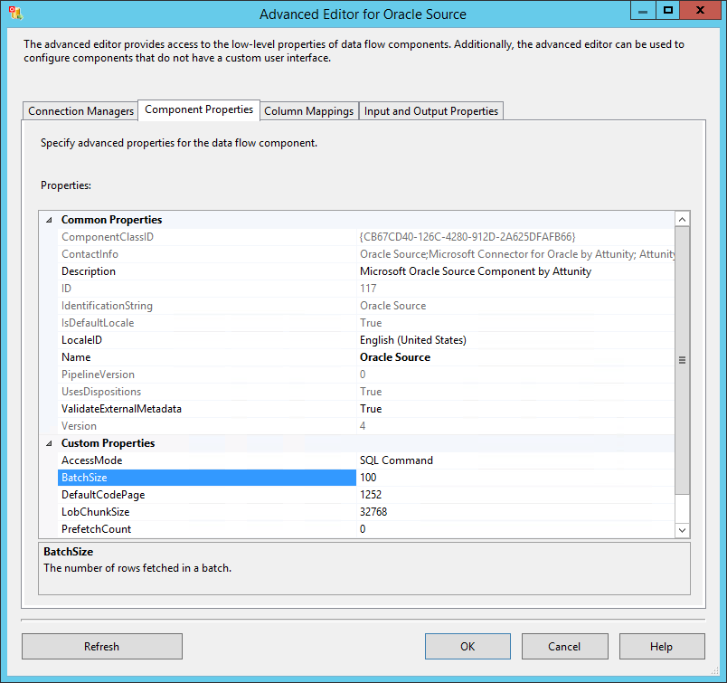 Oracle Source Advanced Editor