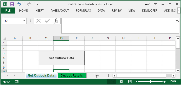 Excel file with two tabs