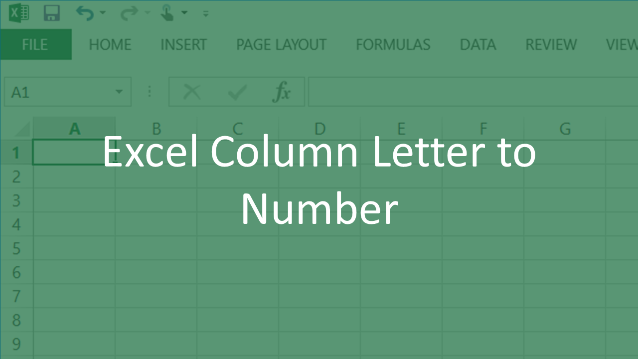 Excel Column Letter to Number Quick Reference   Vishal Monpara